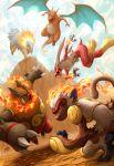 blaziken charizard dragon emboar fire infernape kuroi-tsuki no_humans not_shiny_pokemon pokemon pokemon_(creature) pokemon_(game) pokemon_bw pokemon_dppt pokemon_gsc pokemon_rgby pokemon_rse typhlosion