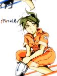 bad_id barefoot brown_eyes brown_hair chell engrish feet jumpsuit ponytail portal ranguage