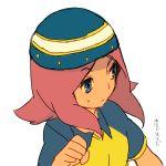 hat inazuma_eleven inazuma_eleven_(series) kangokun pink_hair zaizen_touko