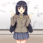 asakura_nagi blush_stickers gokou_ruri long_hair minatsuki_nao mole ore_no_imouto_ga_konna_ni_kawaii_wake_ga_nai red_eyes school_uniform whiteboard