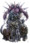 armor bad_id creepy dugtrio golem_(pokemon) gym_leader male mewtwo nidoking nidoqueen pokemon pokemon_(anime) realistic rhydon rhyhorn sakaki_(pokemon) signature simple_background team_rocket white_background