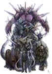 armor bad_id creepy dugtrio golem_(pokemon) gym_leader male mewtwo nidoking nidoqueen pokemon pokemon_(anime) realistic rhydon rhyhorn sakaki_(pokemon) signature simple_background team_rocket white_background