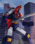 70s building mecha oldschool super_robot sword tsubasakon voltes_v voltes_v_(mecha) weapon