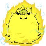 :3 aura blonde_hair dragon_ball dragon_ball_z electricity hat hong_meiling hong_meiling_(panda) panda parody seki_(red_shine) solo spiky_hair star super_saiyan touhou