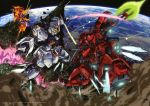 absurdres battle char's_counterattack energy_sword epic explosion gundam highres nu_gundam sazabi sword teraoka_iwao weapon