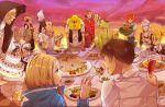 arakawa_under_the_bridge basket beer bell_pepper billy_(arakawa) blonde_hair blue_eyes brown_hair cake crossdressing cucumber cup drooling everyone feeding fish food glass hoshi_(arakawa) ichinomiya_kou iron_brothers_(arakawa) jacqueline_(arakawa) kabochara kappa_(arakawa) last_samurai_(arakawa) maria_(arakawa) mug nino_(arakawa) nun p-ko_(arakawa) pink_hair purple_eyes red_hair redhead shiro_(arakawa) sister_(arakawa) spaghetti stella_(arakawa) tomato twintails vest violet_eyes wine wine_glass