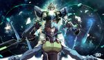 gundam gundam_00 longai male mecha setsuna_f_seiei space space_suit spacesuit weapon