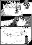 chibi high_res long_hair magical_girl mahou_shoujo_madoka_magica monochrome ponytail sakura_kyouko sword tombstone uri92 weapon