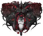 black_rose fetus flower hat heart komeiji_koishi mazeran persona rose short_hair solo thorn thorns touhou transparent_background vines