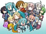 akita_neru animal_hat beer cat_hat chibi chibi_miku defoko dog everyone fl-chan fl_studio hamo_(dog) hat hatsune_miku heterochromia highres kagamine_len kagamine_rin kaito kasane_teto kiyone_suzu megurine_luka megurine_luka_(toeto) meiko minami_(artist) momone_momo playstation_portable psp spring_onion sweatdrop the_thing_not_quite_sure_what_it_is toeto_(vocaloid) utane_uta utau vocaloid yokune_ruko yowane_haku yowaneko |_|