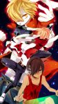 blonde_hair brown_eyes brown_hair bunny_ears goggles goggles_on_head hair_over_one_eye highres ikezawa_kazuma king_kazuma male natsumi_(ragtime) summer_wars tan tank_top
