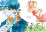 arrietty crossed_arms ghibli ha-na-ya karigurashi_no_arrietty millipen_(medium) minigirl shou shou_(karigurashi_no_arrietty) studio_ghibli traditional_media watercolor_(medium)