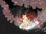 bad_id character_request flower highres hiko_(lg612) issun okami ookami_(game) sakuya_(okami) sakuya_(ookami) ushiwakamaru