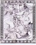 border bowser castle darth_vader fine_art_parody frame goomba hat koopa koopa_paratroopa lance mario nintendo overalls paragoomba parody piranha_plant plant polearm princess_peach princess_peach's_castle skull super_mario_bros. toad toad_(mario) venus_flytrap weapon yoshi