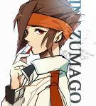 brown_hair endou_mamoru face headband hgsnxxx inazuma_eleven inazuma_eleven_(series) inazuma_eleven_go jacket male red_eyes whistle