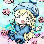 bad_id blonde_hair blush_stickers chibi cordelia_glauca flower koohee sibanoue tantei_opera_milky_holmes