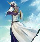 aquacrown000 bad_id blonde_hair epaulettes helmet keith_goodman male power_suit short_hair sky sky_high solo superhero tiger_&_bunny