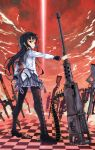akemi_homura ammunition_belt assault_rifle beam black_hair browning_m2 bullpup cartridge checkered checkered_floor gatling_gun gun heavy_machine_gun howa_type_89 kno1 lever_action long_hair looking_back m249 machine_gun magical_girl mahou_shoujo_madoka_magica p90 pantyhose rifle rocket_launcher rpg rpg-7 shell_casing shotgun sl8 sniper_rifle solo spas-12 submachine_gun tdi_vector walther_wa-2000 walther_wa_2000 weapon winchester_model_1894