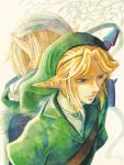 blonde_hair blue_eyes earrings hat jewelry link nintendo ocarina_of_time pointy_ears pupilla32 sheik the_legend_of_zelda