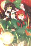 2girls braid fang kaenbyou_rin reiuji_utsuho shoken_narai touhou