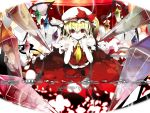bat_wings blonde_hair blue_eyes blue_hair braid fangs flandre_scarlet hat head_wings hong_meiling izayoi_sakuya koakuma long_hair maid_headdress patchouli_knowledge ponytail purple_eyes purple_hair red_eyes red_hair remilia_scarlet short_hair side_ponytail silver_hair touhou twin_braids uki uki_(room_405) wallpaper wings