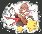 dress hat high_heels musical_note mystia_lorelei pantyhose pink_hair red_eyes shoes sitting solo star touhou uni_mate winged_shoes wings yunimeito_(artist)