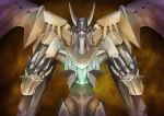 glowing highres horns jubey mecha red_eyes super_robot_wars the_3rd_super_robot_wars_alpha wings