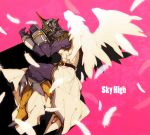 angel_wings boots epaulettes feathers helmet male power_suit sachiko_(omame) sky_high solo superhero tiger_&_bunny wings