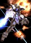 beam beam_rifle explosion gun gundam gundam_seed gundam_seed_a-star highres kou_(mechalog) mecha no_humans solo tsx-01-x1_trias weapon