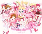 6+girls 90s ;d angel_peach bishoujo_senshi_sailor_moon blonde_hair blue_eyes brown_hair card_captor_sakura cardcaptor_sakura character_request chibi_chibi chibi_usa child color_connection corrector_yui crossover di_gi_charat dress eternal_sailor_moon fuuin_no_tsue hanasaki_momoko harukaze_doremi kasuga_yui kinomoto_sakura magic_knight_rayearth magical_girl mahou_tsukai_tai mahou_tsukai_tai! mermaid_melody_pichi_pichi_pitch mew_ichigo momomiya_ichigo momoshiki_tsubaki multiple_girls nanami_lucia ojamajo_doremi open_mouth pink pink_hair pink_legwear princess_silver rabi_en_rose sailor_chibi_chibi sailor_chibi_moon sailor_moon sawanoguchi_sae shidou_hikaru short_hair skirt smile source_request super_sailor_chibi_moon super_sailor_moon tokyo_mew_mew tsukino_usagi usada_hikaru wand wedding_peach white_background white_legwear wink yume_no_crayon_oukoku