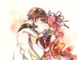 1girl asbel_lhant bad_id brown_hair cheria_barnes couple maico_(a218) maico_(tsuitta) one_side_up pink_hair tales_of_(series) tales_of_graces