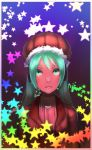 aqua_hair b.c.n.y. bcny casual hat hatsune_miku star turtleneck vocaloid