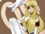 armband artist_request blonde_hair bunny_ears eyepatch highres long_hair rabbit_ears red_eyes siesta00 siesta_sisters sitting smile thigh-highs thighhighs toboshi_ano umineko_no_naku_koro_ni