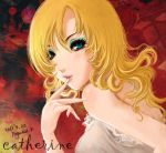 atlus blonde_hair blue_eyes catherine catherine_(game) eyeshadow long_hair makeup pegasuskuan smile solo