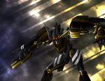 chouzetsu_yarou glowing_eyes gun mecha no_humans shotgun solo super_robot_wars the_3rd_super_robot_wars_alpha weapon werkbau