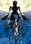 blue_hair digital_media_player gun headphones moon orpheus persona persona_3 weapon