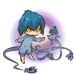 androgynous azelf blue_hair cosplay gijinka hair hitec human male moemon personification pokemon pokemon_(creature) pokemon_(game) pokemon_dppt yellow_eyes