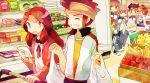 brown_eyes brown_hair couple endou_mamoru food groceries hamano_kaiji hayami_tsurumasa highres inazuma_eleven inazuma_eleven_(series) inazuma_eleven_go kirino_ranmaru long_hair matsukaze_tenma mocha_(mokaapolka) nishizono_shinsuke raimon_natsumi shindou_takuto shopping spying supermarket track_suit