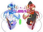 akaito blue_hair kaito redhead vocaloid