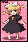 animal_ears barefoot blonde_hair blue_eyes blueberry_(5959) bunny_ears highres inaba_tewi player_2 rabbit_ears short_hair touhou