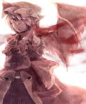 absurdres bat_wings foreshortening hat highres kanosigu monochrome nail_polish outstretched_arm outstretched_hand pointing red remilia_scarlet short_hair solo tears touhou vampire wings