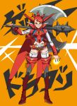 1girl female getter_dragon getter_robo getter_robo_g high_heels mazingkaizer mecha_musume personification red_hair redhead solo thighhighs weapon yellow_eyes