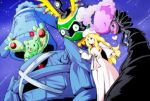 blonde_hair blue_eyes bronzong cattleya_(pokemon) character_request elite_four gothitelle green_eyes heart metagross musharna pokemon pokemon_(game) pokemon_black_and_white pokemon_bw red_eyes reuniclus roah sigilyph slime wings