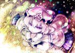 fan folding_fan from_above hat koohee purple_eyes saigyouji_yuyuko sibanoue solo tears touhou