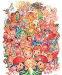 batch beard black_hair blonde_hair blue_hair brown_hair cap character_request child claus colored_pencil_(medium) dcmc doseisan duster_(mother) everyone facial_hair flint flower glasses hat hinawa jeff_andonuts loid lucas magic_(mother) microphone mother_(game) mother_1 mother_2 mother_3 mou. mustache ness ninten oj orange_hair paula_polestar pencil pink_hair poo porky_minch scarf shimmy_zmizz shirt striped striped_shirt sunflower sunglasses teddy_(mother) tonzura_brothers traditional_media translation_request