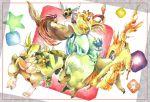antonio_lopez articuno barnaby_brooks_jr blue_beak electabuzz everyone huang_baoling ivan_karelin kaburagi_t_kotetsu karina_lyle keith_goodman lopunny moltres nathan_seymour natunaya ninjask no_humans parody pidgeot pikachu pokemon pokemon_(creature) shiny_pokemon tauros tiger_&_bunny traditional_media watercolor_(medium)