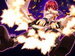 bloody_rondo game_cg gun nikaidou_rinko red_eyes red_hair redhead sakaki_maki short_hair weapon