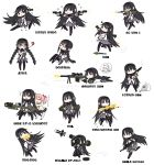 akemi_homura anger_vein at4 barrett_m82 bipod black_hair braid casing_ejection chibi desert_eagle dual_wielding e338_davy_crockett firing glasses golf_club gun gunkata hairband handgun highres homu jon_henry_nam kaname_madoka kyubey long_hair m-388_davy_crockett m249 machine_gun madoka_runes magical_girl mahou_shoujo_madoka_magica move_chart multiple_girls muzzle_flash pantyhose pistol racking_slide red-framed_glasses rifle rocket_launcher rpg rpg-7 scope shell_casing shotgun smoke smoking_gun sniper_rifle translated translation_request twin_braids weapon