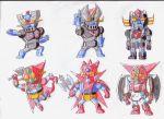 axe cape chibi fist getter-1 getter_dragon getter_robo getter_robo_g great_mazinger grendizer mazinger_z mecha no_humans shin_getter-1 shin_getter_robo ufo_robo_grendizer
