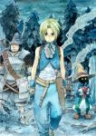 armor blonde_hair blue_eyes deboo final_fantasy final_fantasy_ix gloves hat male tail tree vivi_ornitier zidane_tribal